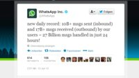 WhatsApp Nachrichten Rekord - 27 Milliarden Nachrichten pro Tag