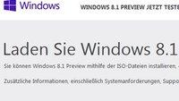Windows 8.1: Preview steht als ISO und im Store zum kostenlosen Download bereit