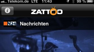 Fernsehen auf dem iPhone: Zattoo jetzt auch über Mobilfunknetz