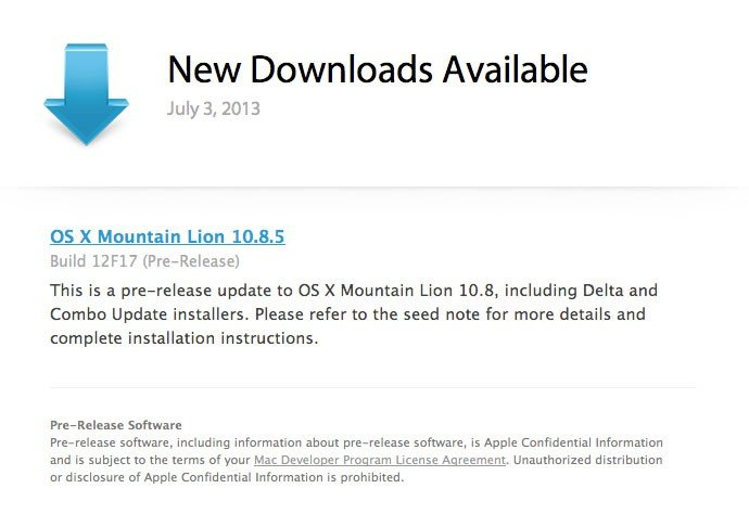 OS X 10.8.5 Download