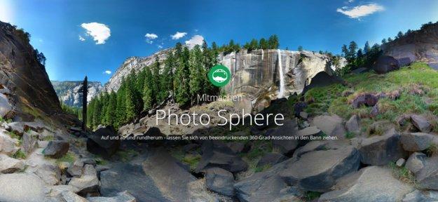 Photo Sphere: neues Online-Netzwerk, How-To-Video und Panoramas transformieren