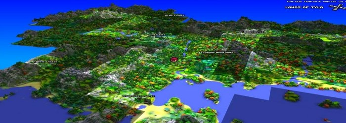 Cube-World-Weltkarte