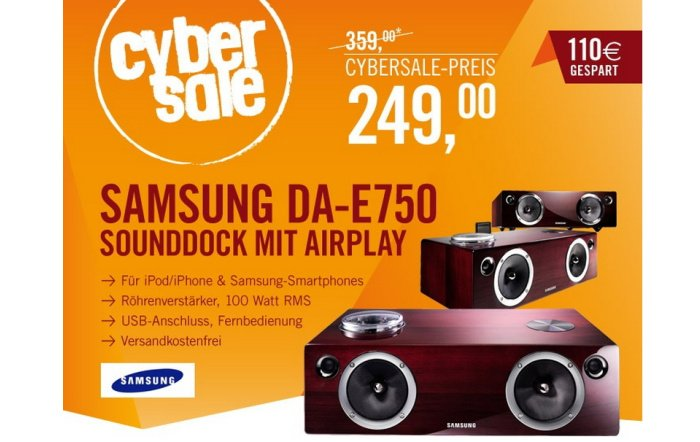 Samsung DA-E750 Sounddock mit AirPlay für 249 Euro