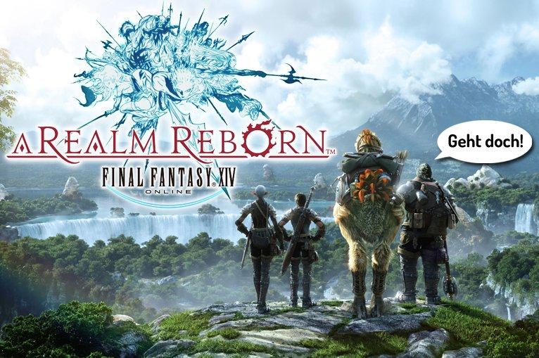 Final Fantasy Xiv A Realm Reborn Beta Mmo Standard Mit Schöner Welt