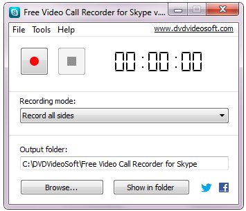 Free Video Call Recorder for Skype Fenster