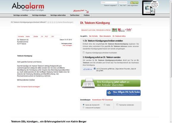 kndigung telekom vorlage - Muster Kundigung Telekom