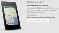 Google Play Store: Nexus 7 8GB eingestellt
