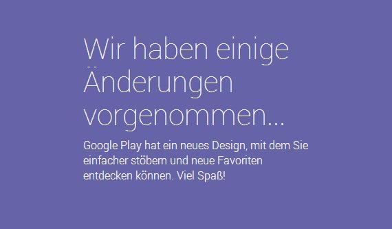 Google Play Store: Alles neu und noch ziemlich verbuggt