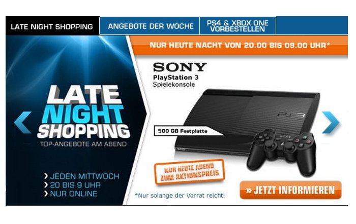 Sony PlayStation 3 heute Abend bei Saturn im Angebot