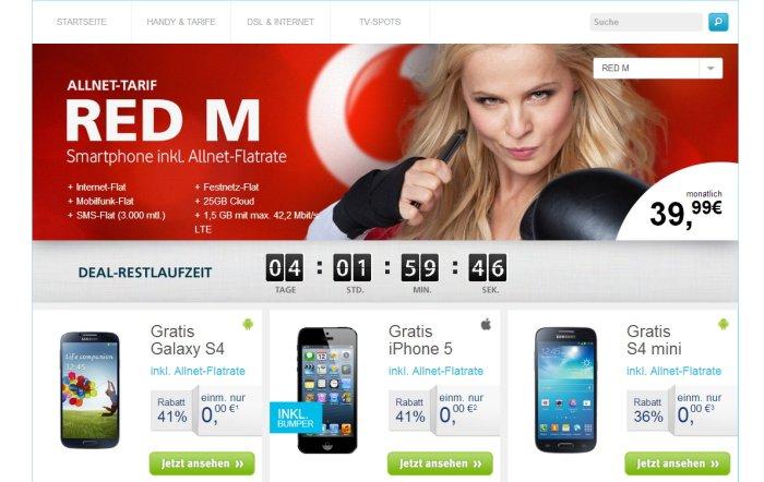 LTE Allnet-Flatrate mit Gratis Smartphone für 39,99 Euro monatlich