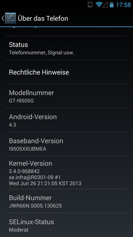 Galaxy S4 SE Linux