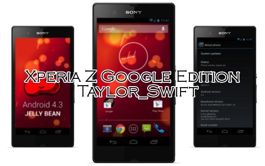 Sony Xperia Z: Google Edition ROM in Arbeit