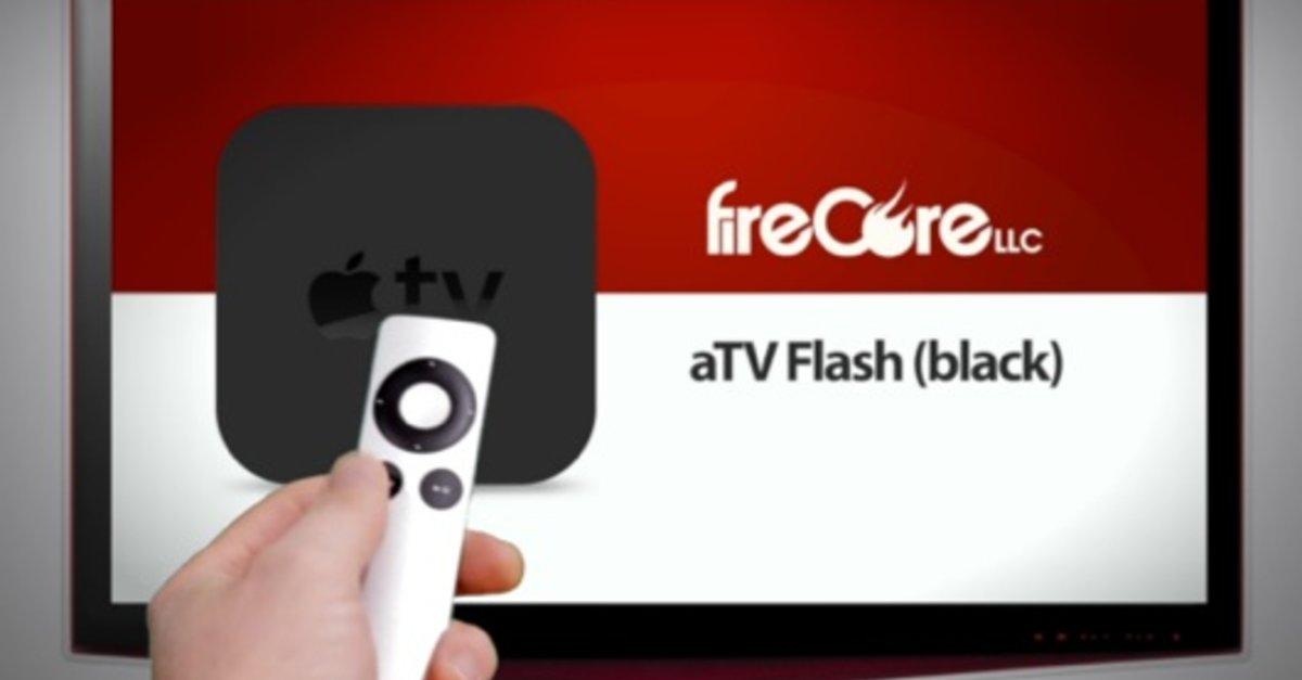 apple tv mit jailbreak update f r atv flash black giga. Black Bedroom Furniture Sets. Home Design Ideas