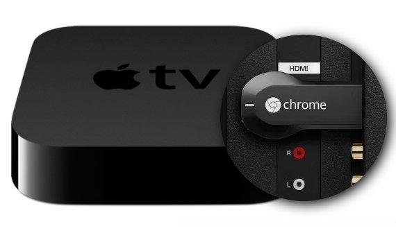 Apple TV 3 und Google Chromecast im Vergleich