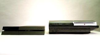 Größenvergleich: PlayStation 4 versus PlayStation 3