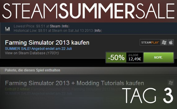 Steam Summer Sale 2013: Tag 3 - Angebot ahoi!