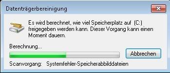 Datenträgerbereinigung zum PC optimieren