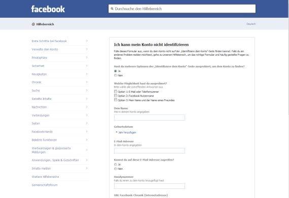 facebook-passwort-vergessen