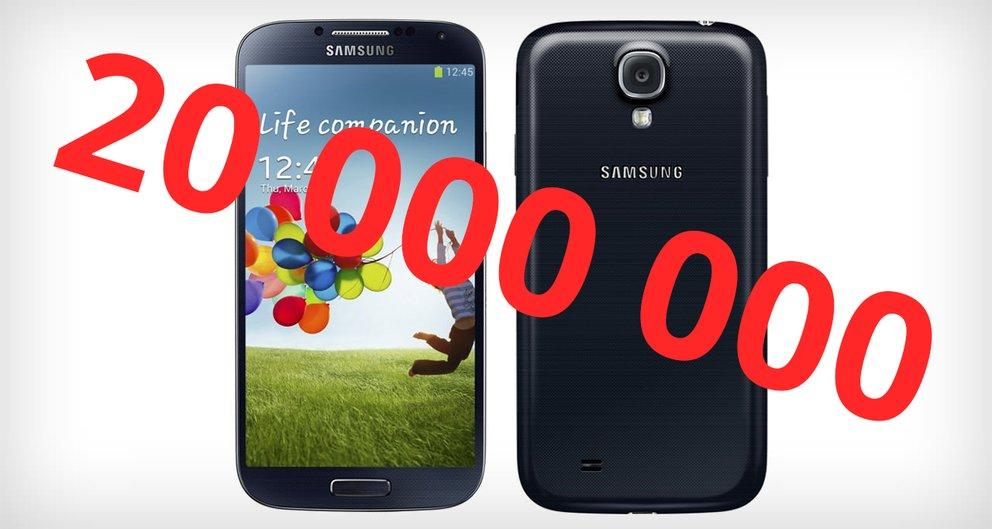 Samsung Galaxy S4: 20 Millionen verkaufte Exemplare in 2 Monaten