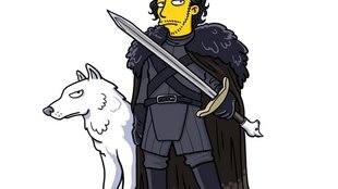 Hodor meets Homer: Game of Thrones im Simpsons-Style