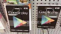 Google Play Geschenkkarten: Ab kommenden Montag offiziell im Handel?