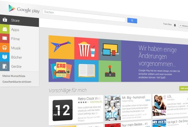 Google Play: Web-Store erstrahlt (und nervt) im neuen Design