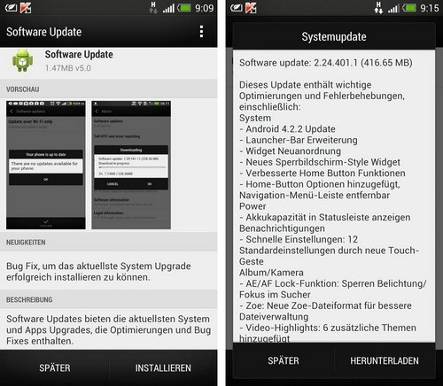 htc one android 4.2.2 update