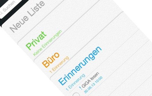 iOS 7: Das ist die neue Erinnerungen-App