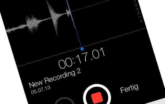 iOS 7: Das sind die neuen Sprachmemos
