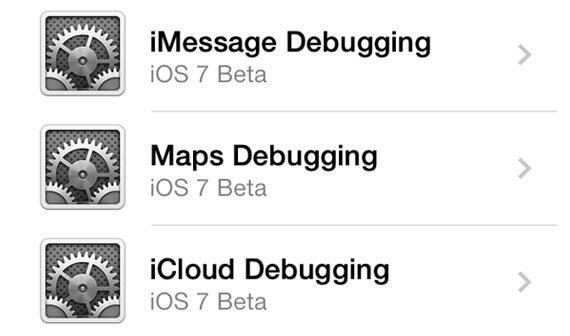 iOS 7 Beta 3: Apples Debug-Settings aktivieren