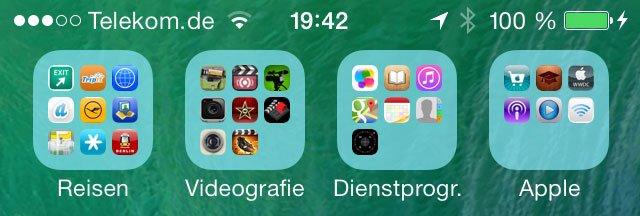 iOS 7 Beta 3 - Neues Ordner-Design
