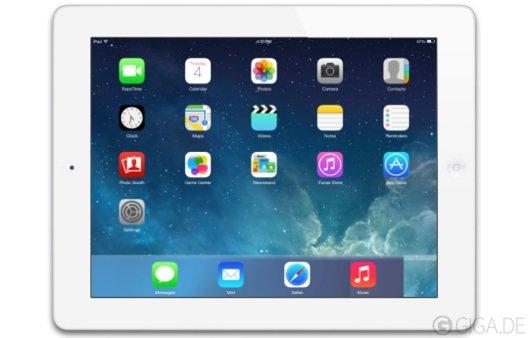 iOS 7 für iPad 2: Verfügbare Funktionen