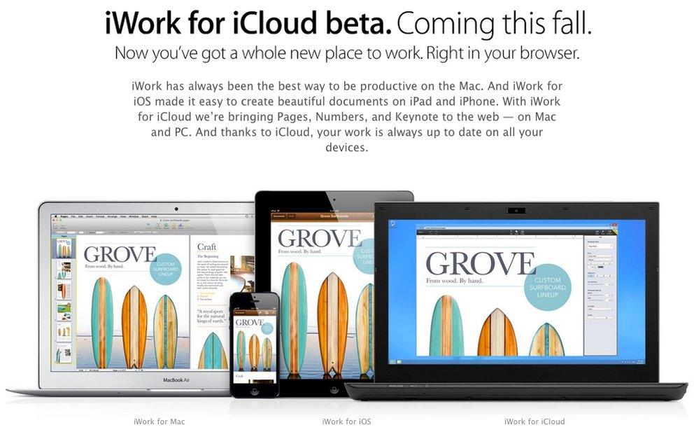 iWork für iCloud: Apple lädt erste Nicht-Entwickler zum Beta-Test ein