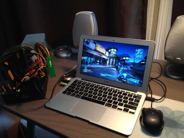 Do it yourself: PCI-Express-Grafikkarte über Thunderbolt an einem MacBook Air