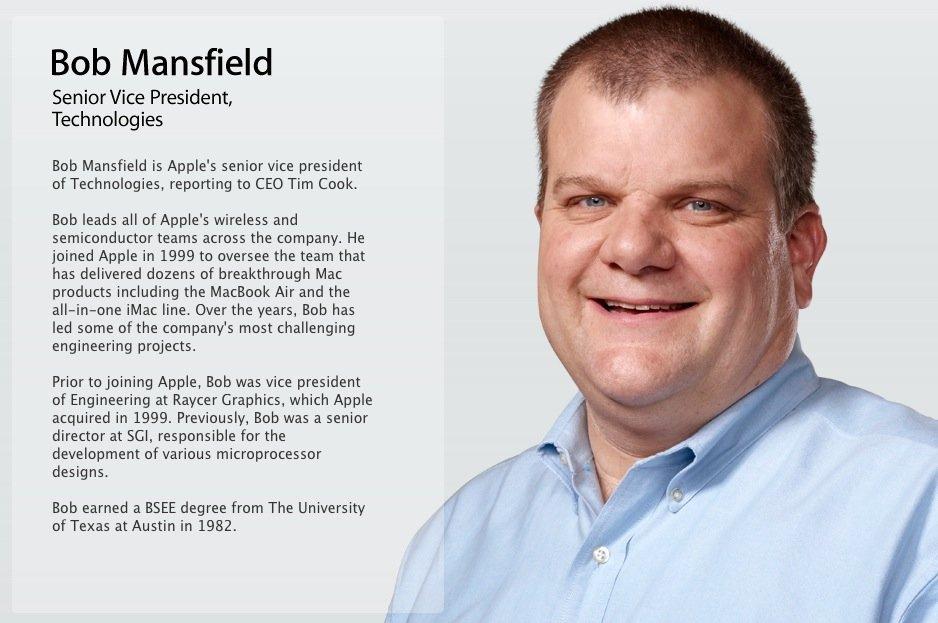 Apple-Management: Bob Mansfield ist kein Senior Vice President mehr