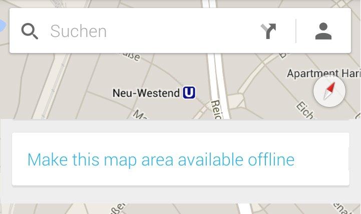 Google Maps Offline-Karten Deutschland Download