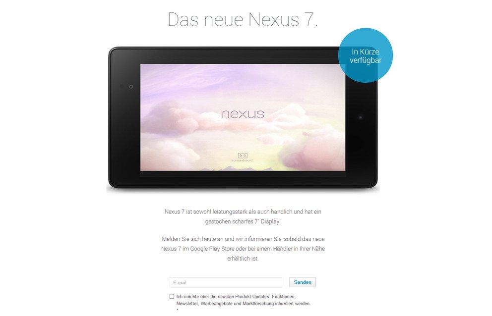 Nexus 7 (2013): Kommt doch mit LTE nach Europa [Exklusiv]