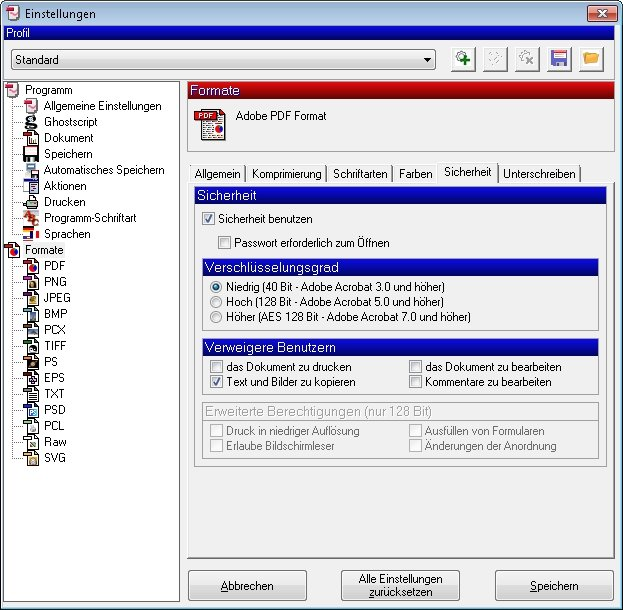 pdfcreator sicherheit
