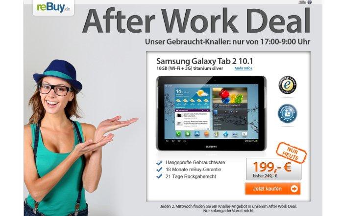 Samsung Galaxy Tab 2 10.1 (Wi-Fi + 3G) für 199 Euro bei reBuy.de
