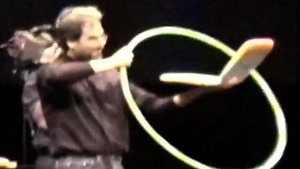 Steve Jobs introduces WiFi to the masses with a hula hoop!