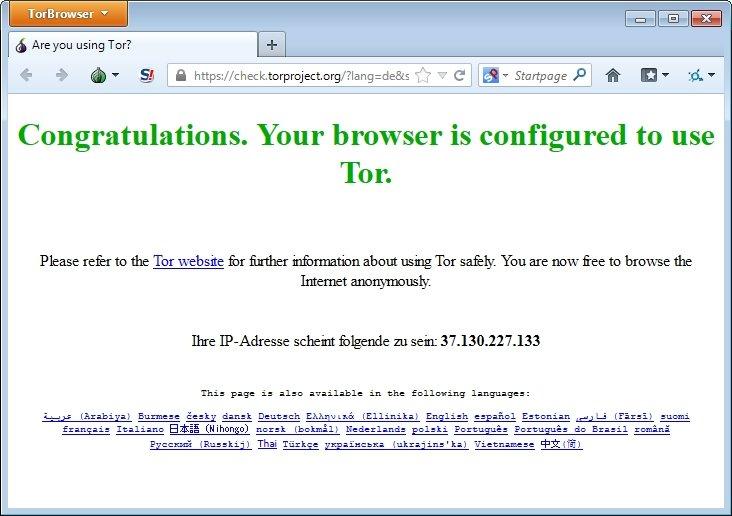 tor browser start