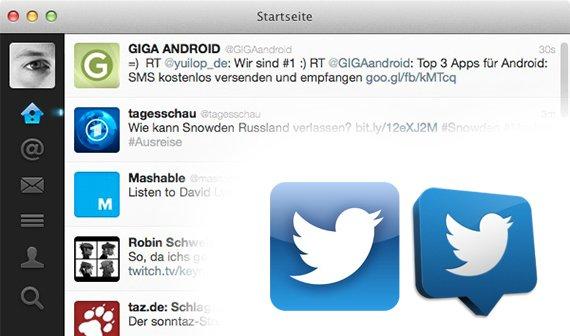 Twitter für Mac und iOS: Synchronisation mit anderen Apps, bessere Übersicht