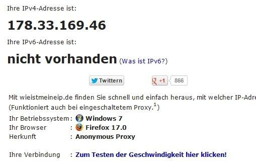 IP-Adresse herausfinden