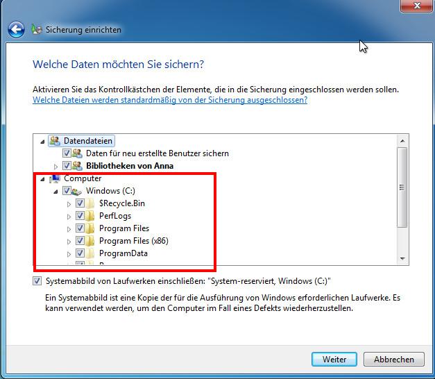 Windows 7 Backup Auf Externe Festplatte