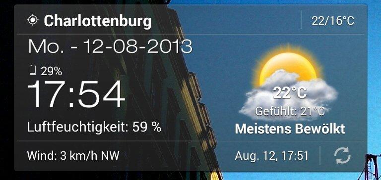 Android Wetter & Clock Widget: Auswahl aus vielen guten Widgets.