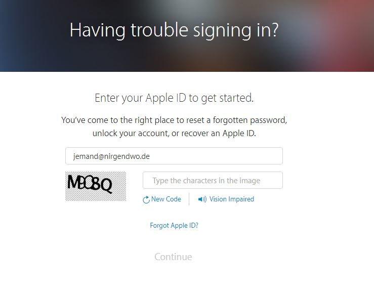 Apple ID gesperrt Wiederherstellen