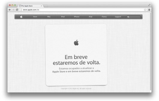 Apple Store ist offline (Update)