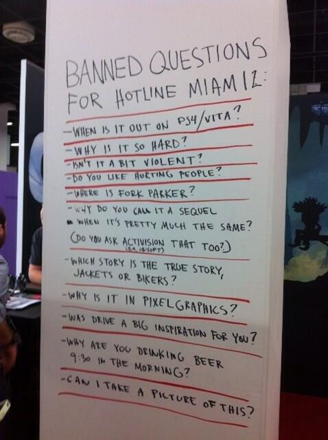 Gamescom-Präsentationen: Gebannte Fragen bei der Hotline Miami 2 Präsentation