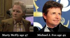 """Make-up vs. Realität: Die alt geschminkten """"Zurück in die Zukunft""""-Stars und ihr wahres Alter"""