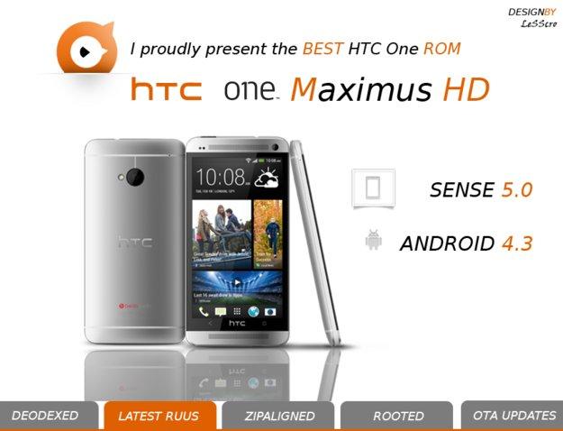 HTC One: Android 4.3 Rom mit Sense 5 zum Download